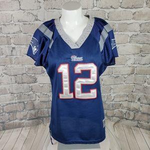 Patriots Reebok Brady No 12 Jersey VNeck Size XL